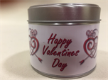 Valentine's Day Frangranced Tinned Candle