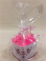 Rose Fragranced Valentine's Heart Shaped Candle