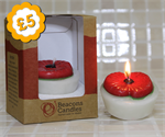 Poppy Cup Cake Candle